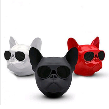 2019 New size dog head Blue tooth speaker card mini audio desktop computer portable wireless subwoofer