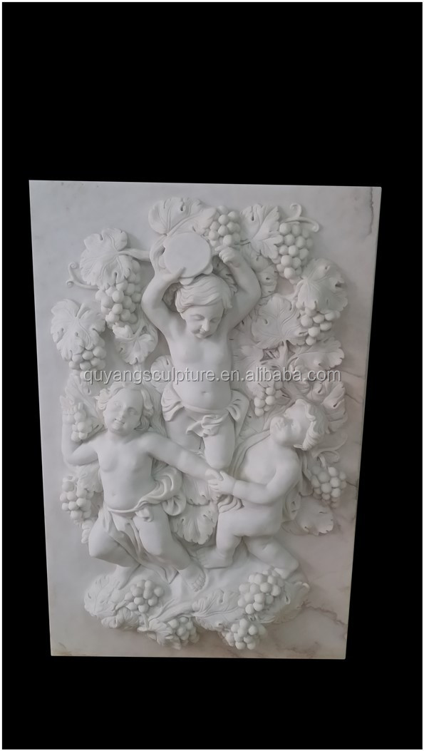 New Fashion White Marble Wall Relief Carving