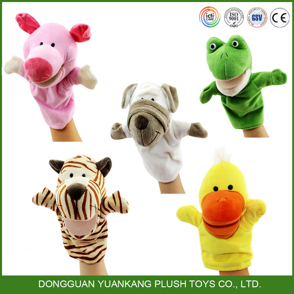 hot selling animal shaped plush hand puppet