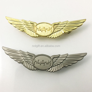 New hot custom airline pilot wings/custom metal pilot wings pin  badge/airline pilot wings badge emirates