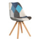 high quality new design hot sale modern cheapppseat beech leg high quality durable popular wholesale plastic chair with cushion