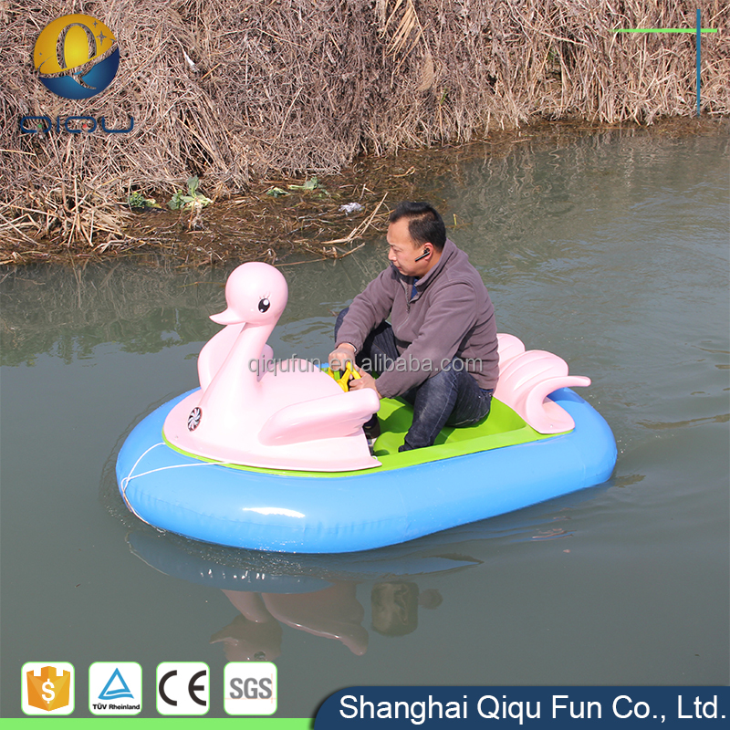 Popular backyard ride children favorites compare water park family ride motorized kids motor bumping boat with battery aqua park