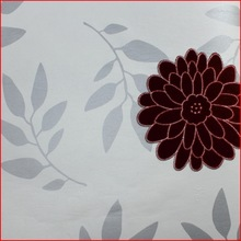 Graceful Floral Leaves Popular Non-woven Wallpaper Embroidery Wallcovering