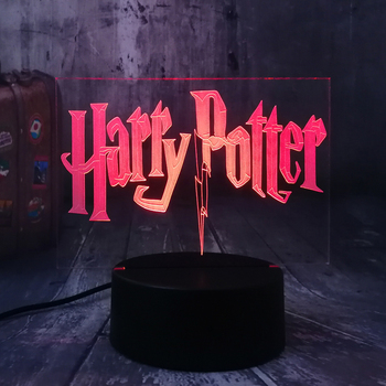 New 2019 Movie Fans Harry Potter 3D LED 7 Color Change Night Light Bedroom Lamp Home Decor Child Kid Toys Xmas Halloween Gift