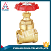 resilient seal non-rising stem gate valve blasting with forged polishing with CW617n material female threaded connection PTFE