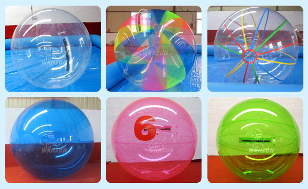 Hot Summer TPU/PVC inflatable human water ball/walking ball for kids and adults