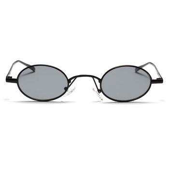 9f40b7945c Boyarn black small oval sunglasses women retro 2018 metal frame yellow red  lens round vintage sun