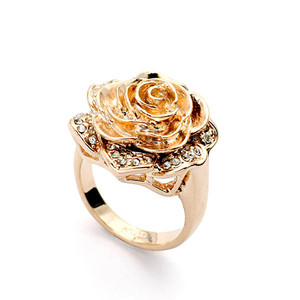 Wholesale New products simple rose gold rings jewellery 22ct gold jewellery 18kt gold jewellery