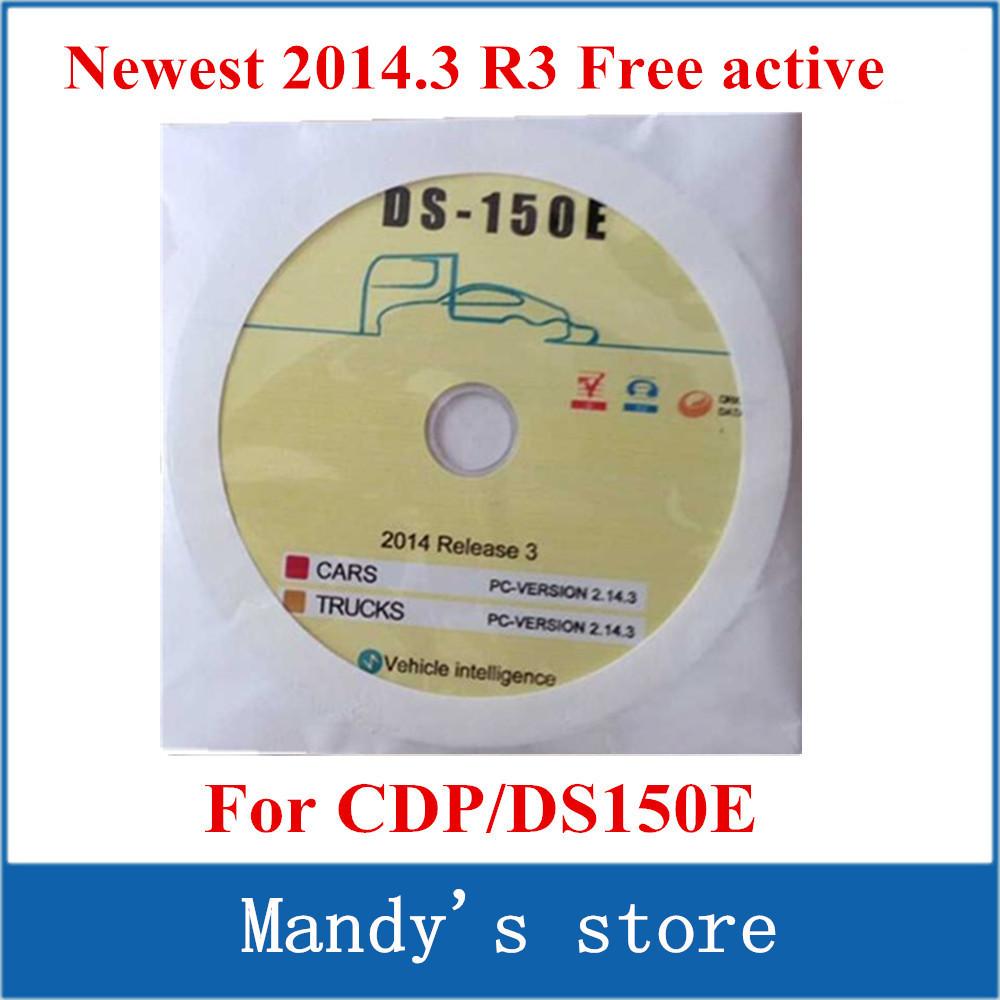 Версия CDP DS150 DS150E программного обеспечения ( 2014.3 R3 ) без Activtor / кейгена на компакт-диск / диск / DVD для TCS CDP pro большой активный