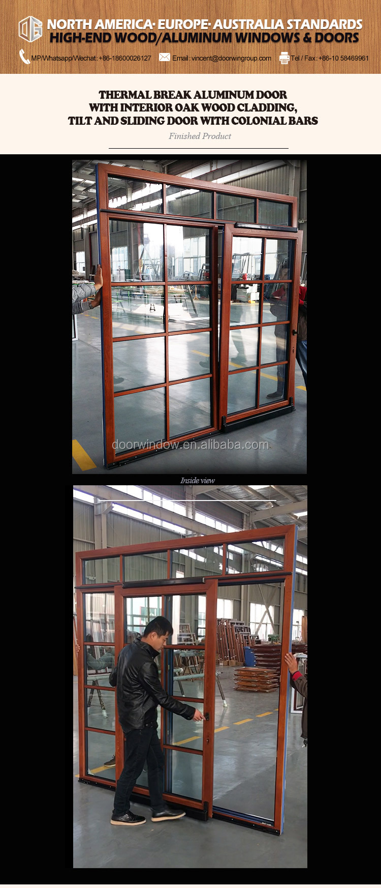 European sliding glass door entrance slide energy saving aluminium hanging