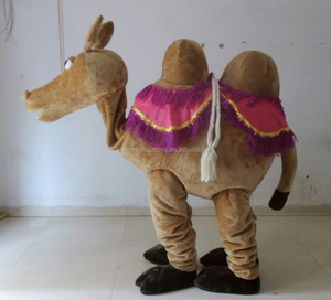 Adult 2 person camel mascot costume soft plush cosplay 2 person camel mascot costume