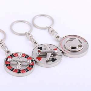China Factory OEM Metal 3D Key Chain Parts Wholesale Metal Souvenir Custom turbo keychain