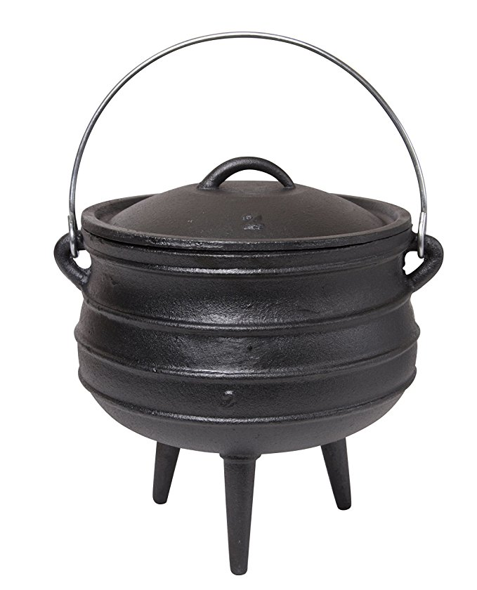 Including Complementary Lid Lifter Knob Mini Best Duty Cast Iron Potjie Cooking Pot
