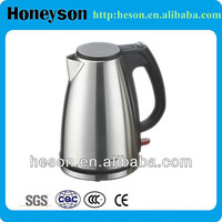 hotel guest room supplies stainless steel high quality electric tea kettle/stainless steel cat tea kettle
