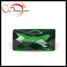 Brilliant green rectangle cubic zirconia gems for headbands making