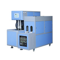 2 Cavities Semi Automatic PET Plastic Bottle Making Blowing Machine Price
