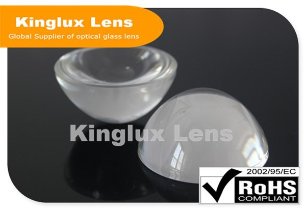 Integrated Kinglux 2015 led projector glass ball lens 50mm made of plano convex molded glass for 10W-30W led chips