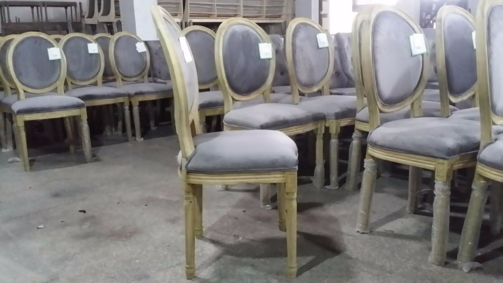Round Cane Back Wood Restaurant Chair Louis Chairs Yj