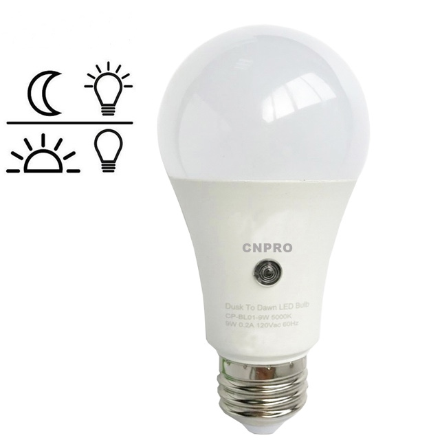9W Dusk to Dawn Led <strong>Bulb</strong> E26 E27 B22 Sensor Light Amazon Hot Sale