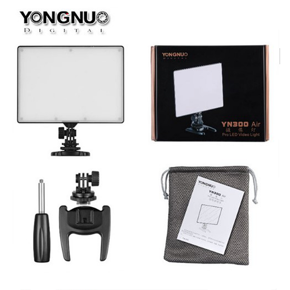 YONGNUO YN300 Air Ultra Dunne CRI 95 2000LM Camera Video LED Panel Licht Voor Canon Nikon Camera