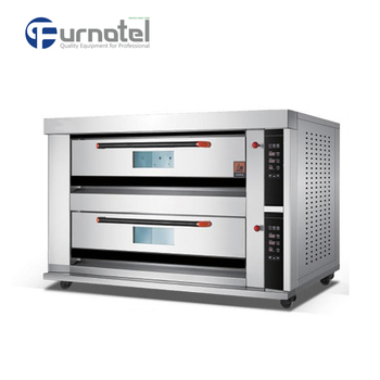 K1487 High Quality Best Price Stainless Steel Bread Single/Double Electric Deck Oven