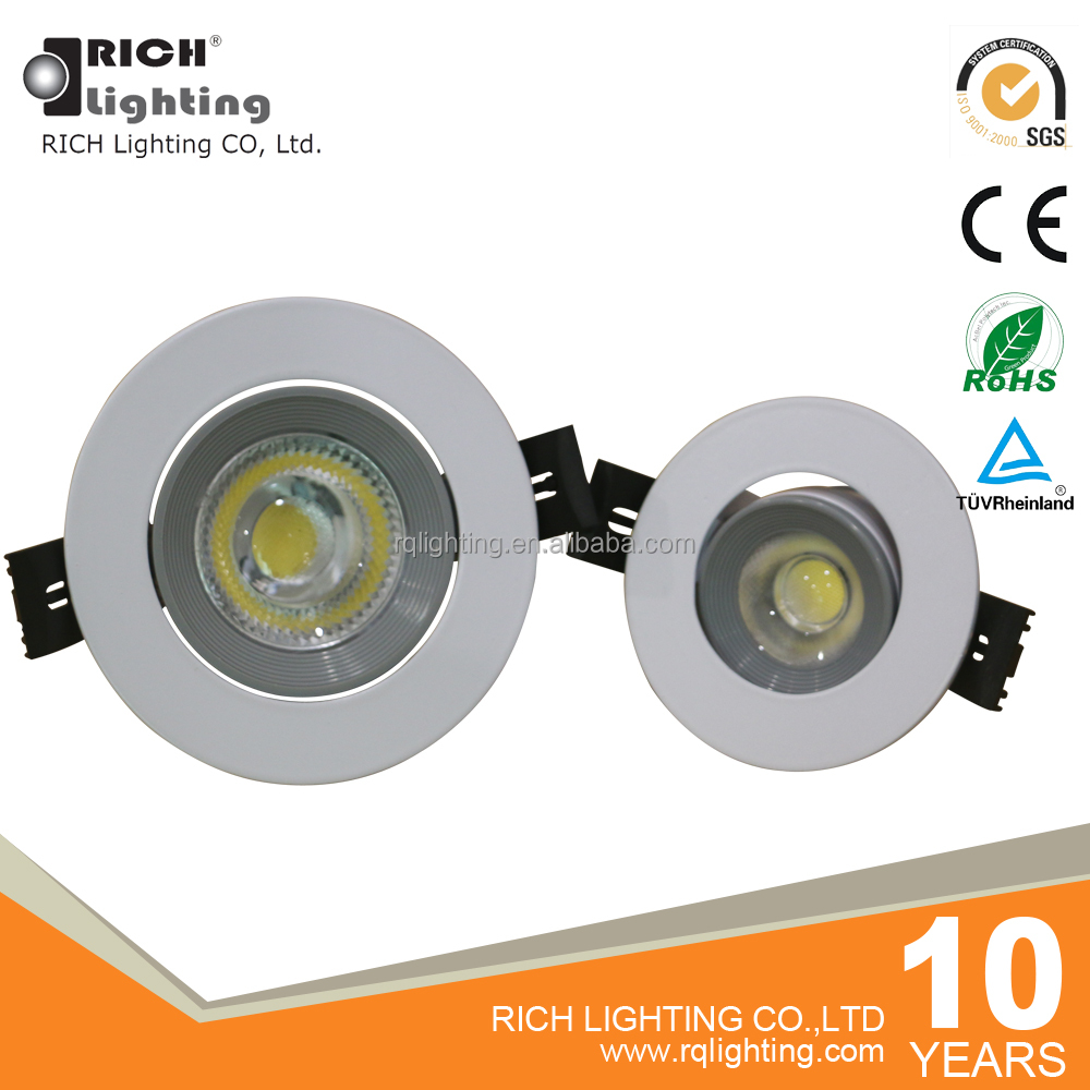 5W/7W/12W/20W Patent Design Dia-Casting Aluminum New Adjustable COB Led Recessed Downlight