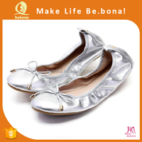 2016 Comfortable Women Roll Up and Foldable Ballet Shoes