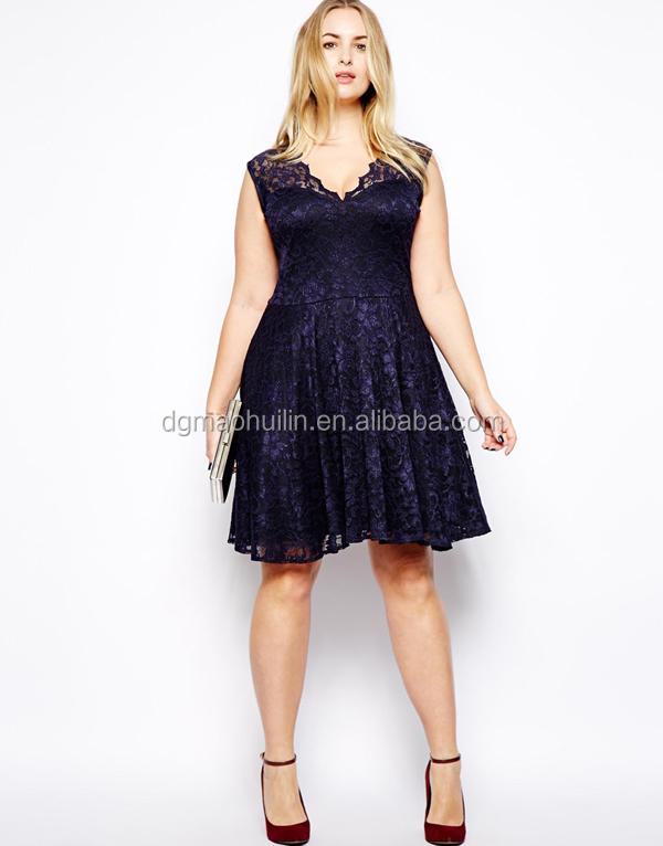 Fat Women Big Size Elegant Lace Dresses Good Quality Plus Size ...