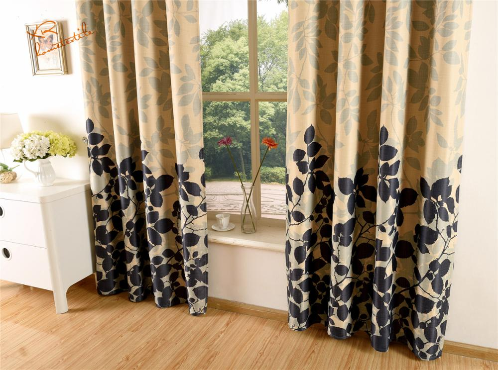 Factory sales germany sheer curtain with print blackout curtain bedroom office hotel