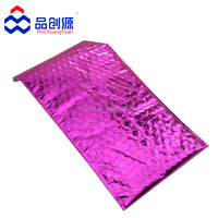colorful aluminum foil bubble bag/metallic bubble mailers envelope
