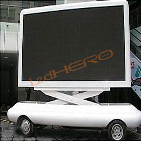 led display for bus/P8 led taxi scrolling message sign/P8 mobile trailer led displayer