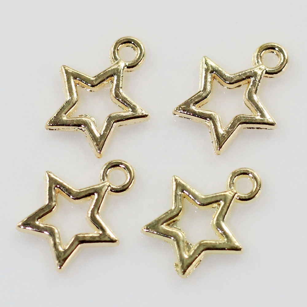 Vintage Zinc Alloy Charms Gold Silver Stars Charms Pendants For DIY Necklaces Bracelets Jewelry Accessories