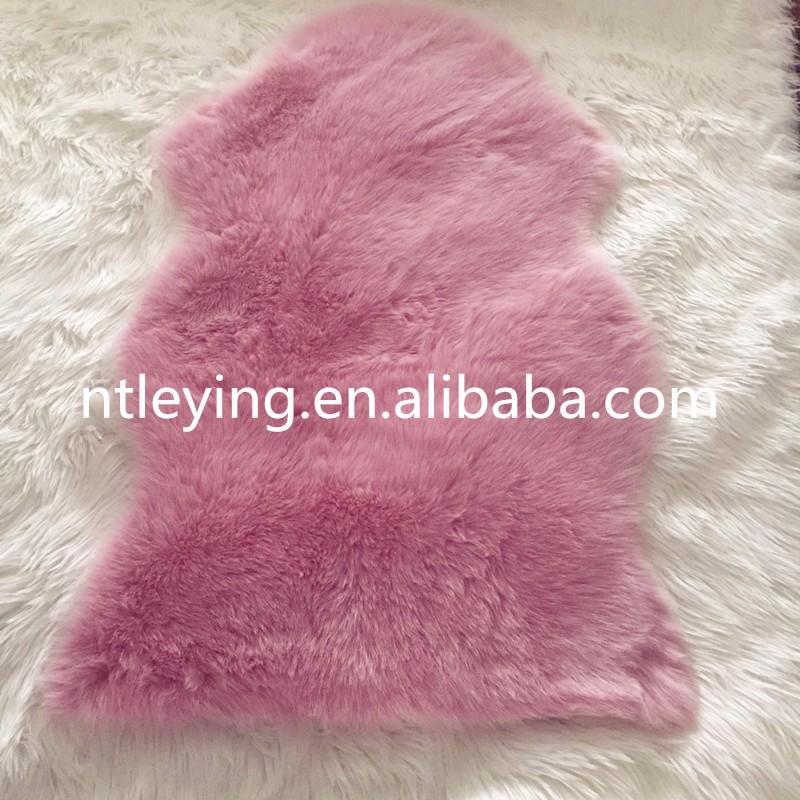 Hot Pink Faux Fur Sheepskin Rug