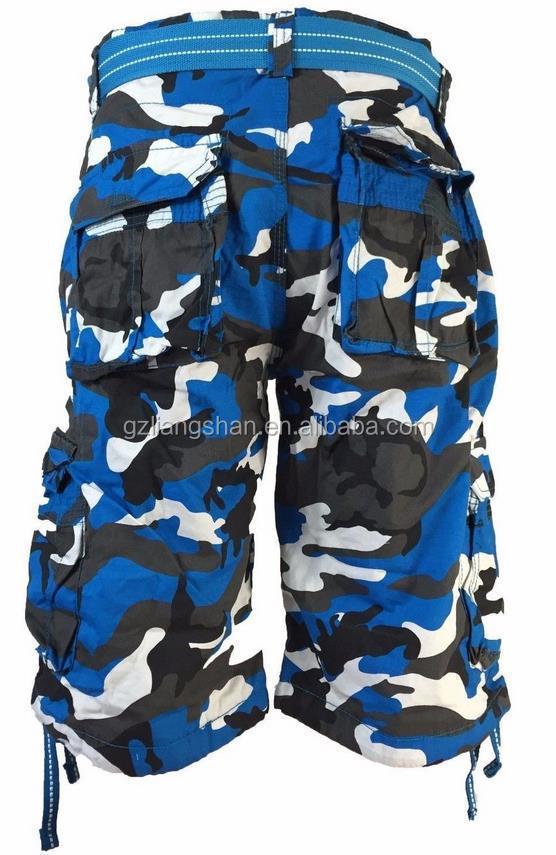 Fashion military camo short cargo pants men trouser short pants 3 4 pants f0c57e6921e