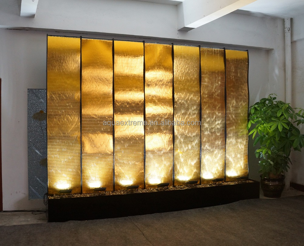 Golden Water Wall. Luxury Waterfall for luxury Site. Customize Avaliable
