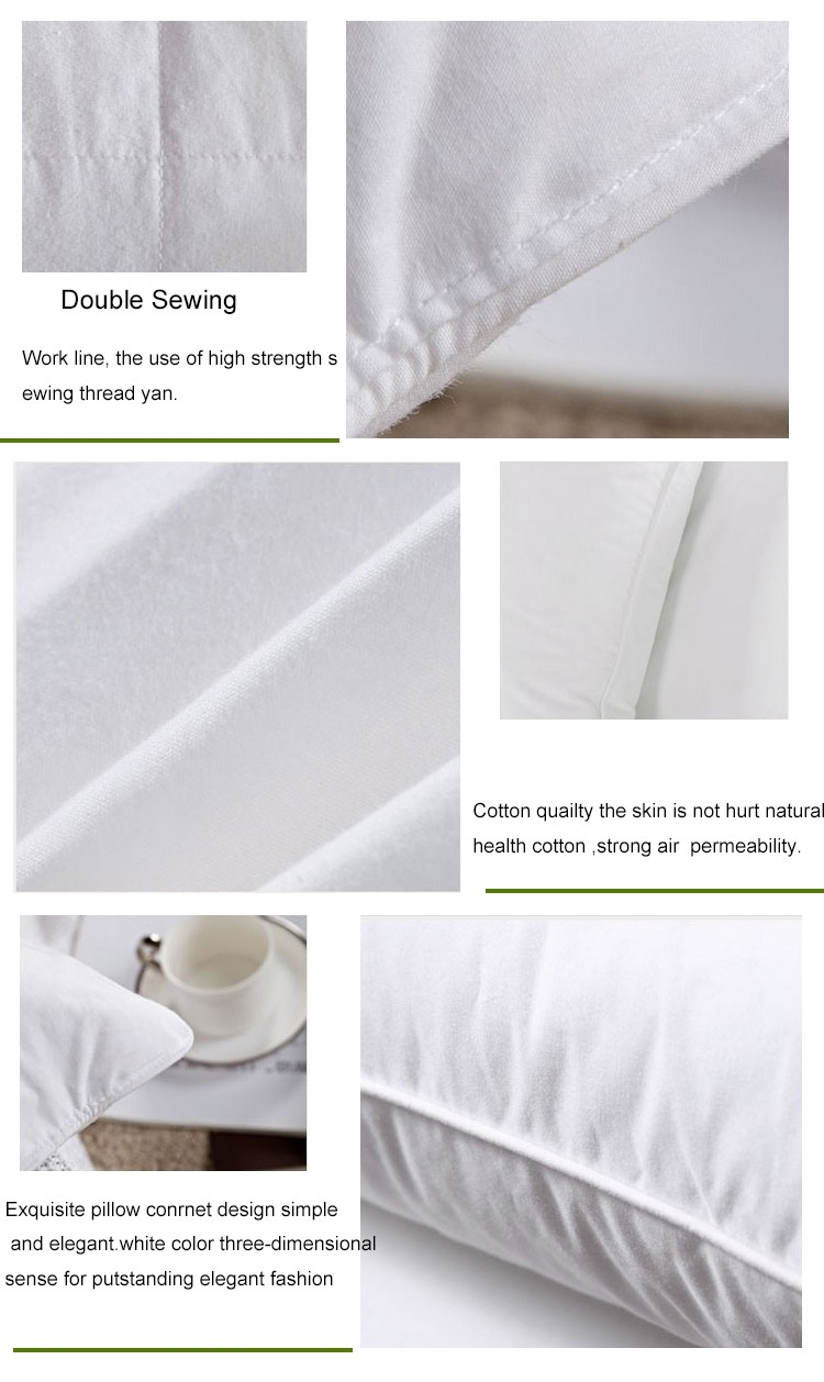 5 Stars Hotel Cotton Polyester Pillow