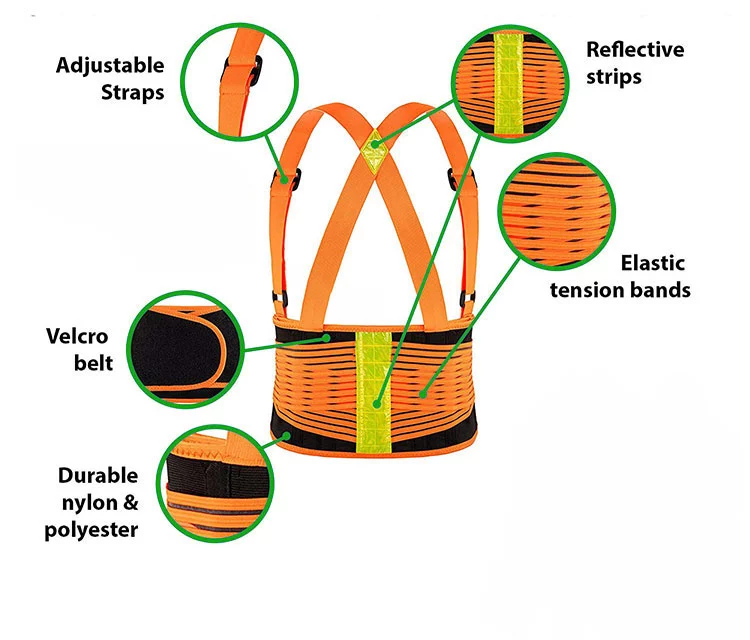 WEINUO Medical Reflective Orthopedic Back Lumbar Support Belt