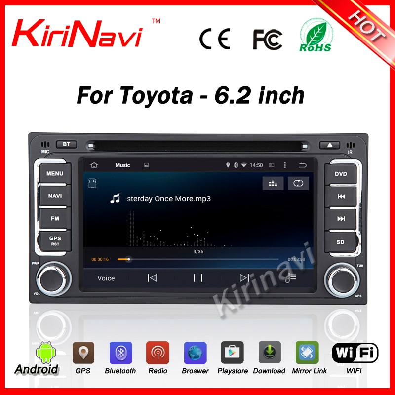 Kirinavi WC-TU6229 <strong>android</strong> 5.1 2 din car radio <strong>universal</strong> dvd player for <strong>toyota</strong> Hilux Vios Avanza car radio navigator