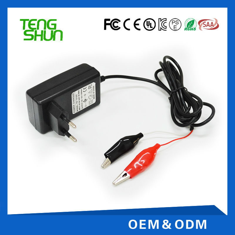 ce fcc ul saa listed 12v 1.25a desktop automatic electric lead acid motorcycle charger
