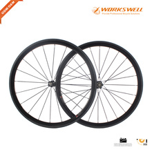 Chinese Workswell 700C Carbon Clincher Wheelset 38mm Wheels Full Carbon Fiber Road Bike Wheelsets