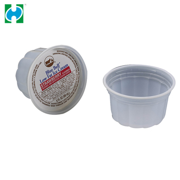 Plastic Disposable Ice Cream Cups with Lids