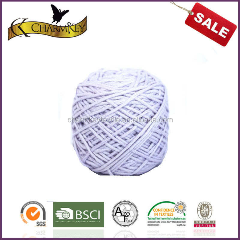 Free sample stock a lot cotton solid color ring spun silk cotton blended yarn