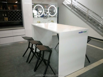 Top Quality Solid Surface Corian Made Home Bar Counter Table