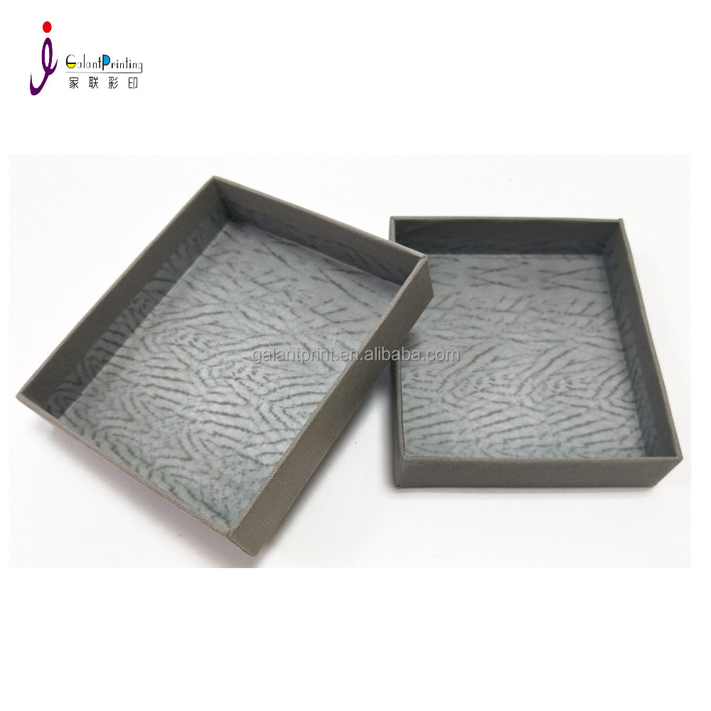 cardboard lined cover jewelry box packaging for jewellery ring bangle bracelet