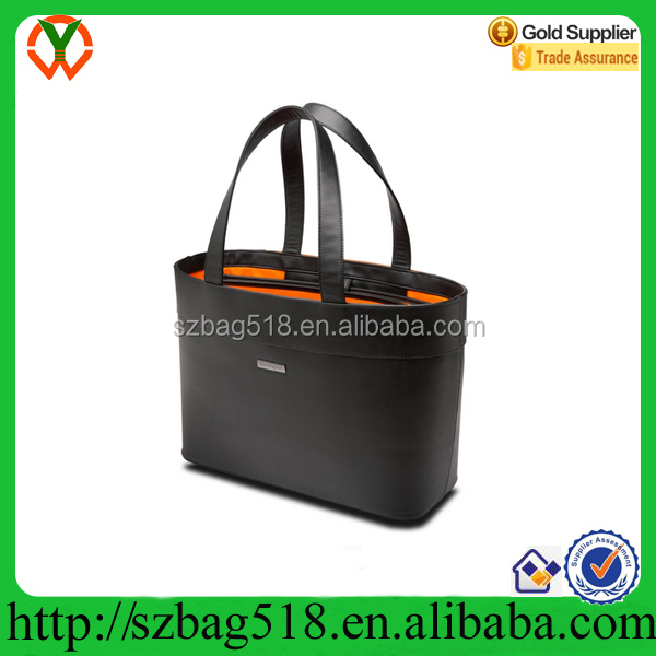 High Quality Luxury PU Leather Laptop Tote Bag For Business