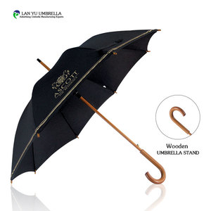 Promotional sports golf umbrella solid color 3 folds led