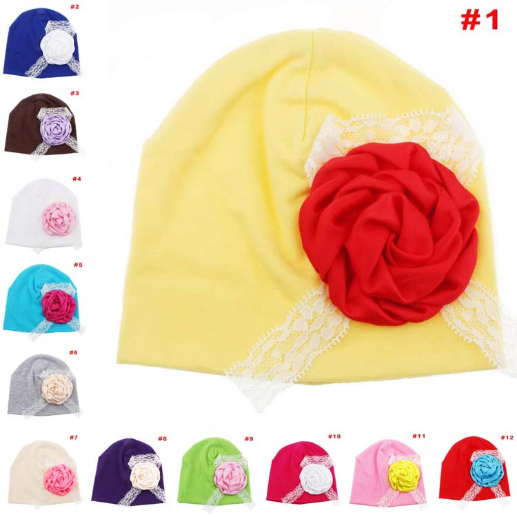 3d5f203b753 Buy 2015 New Spring autumn hat Hedging cap beanies Large flowers Printed  Baby Girl  39 s Caps Hats Infant Girl with Flowers MZC-15109 in Cheap Price  on ...