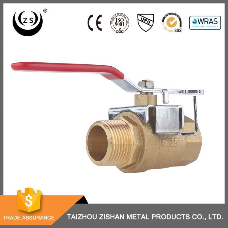Best service widely used threaded lockable rotary handles stop 1 inch cock brass ball valve dn50 pn16