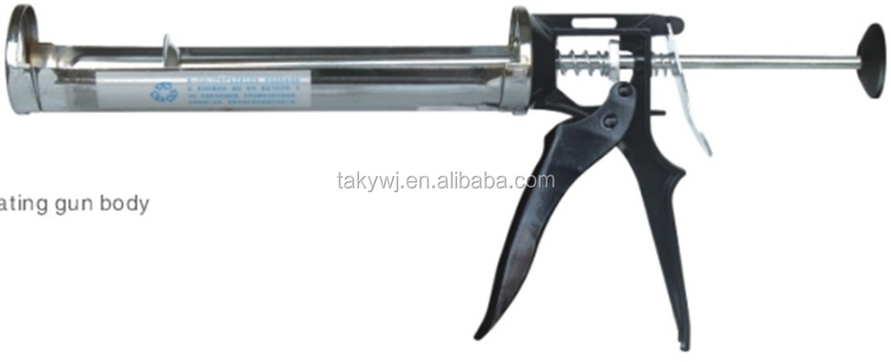 Aluminum Tube Caulking Gun with plastic cap