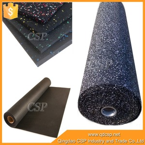 Cheapest price colorful speckled gym recycled rubber